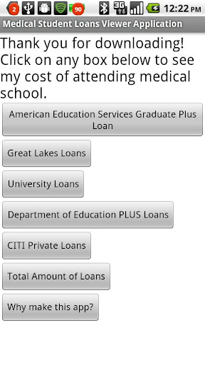 Medical Student Loan Viewer