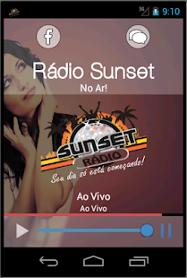 Rádio Sunset - screenshot