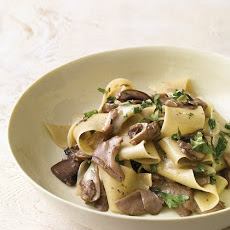 Mushroom Pappardelle with Taleggio Cheese