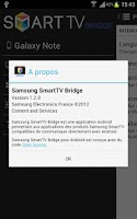 Screenshot of Samsung SmartTV Bridge