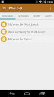Screenshot of WhenDidI - Event Logger