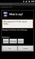 Screenshot of Talking SMS Reader
