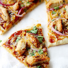 BBQ Chicken Flat Bread Pizza