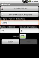 Screenshot of Rediscador (Auto redial)