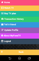 Screenshot of MyFone TV