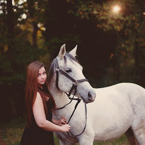 Autumn Beauties by Annamarie Dearr - Animals Horses ( love, animals, best friends, horses, autumn, fall, candid, color, colorful, nature, #GARYFONGDRAMATICLIGHT, #WTFBOBDAVIS,  )