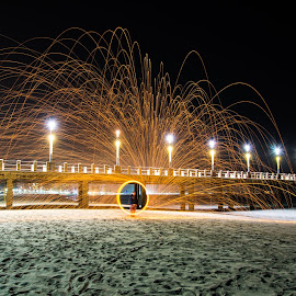 Wheel of Fire by Marc Crowther - Abstract Light Painting
