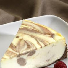 Chocolate-Marbled White Chocolate Cheesecake