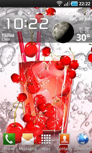 Cherry Juice Live Wallpaper
