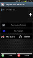 Screenshot of Call Reminder
