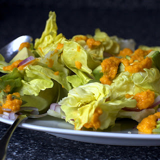 Avocado Salad with Carrot-Ginger Dressing
