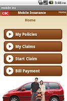 Screenshot of CSC's Mobile Insurance
