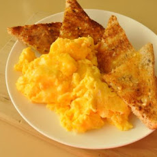 Cheesy Scrambled Eggs . . . Low Fat, Low Chol, Low Sugar