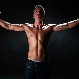 Salvation by Lee Morley - People Portraits of Men ( training, excercise, bullying, free, weights, strength, salvation, muscle, improvement, rescue, image, body building )