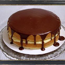 Boston Cream Sponge Cake