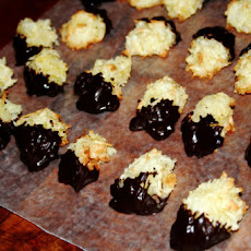 Chocolate-Dipped Coconut Orange Macaroons