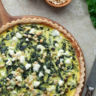 French Swiss Chard Tart (Gluten-Free, Grain-Free, Vegetarian, Paleo Option)