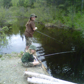 Fishing with Dad by Mike Davis - People Family