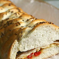 Turkey and Roasted Red Pepper Braids
