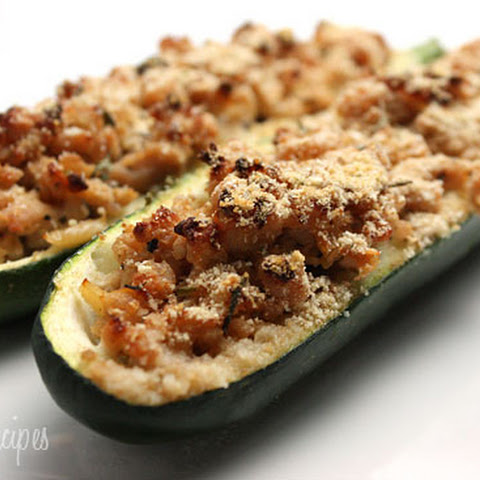 Turkey Stuffed Zucchini