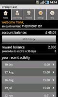 Screenshot of Orange Cash