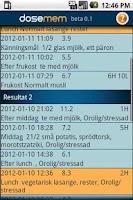 Screenshot of dosemem