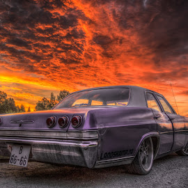 Askim, Norway 087 by IP Maesstro - Transportation Automobiles ( clouds, car, sky, hdr, chevrolet, sunset, transportation, sunrise, norway, land, device )