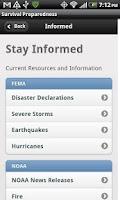 Screenshot of Survival Preparedness