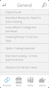 Investing - Creating Wealth - screenshot