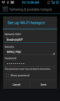 Screenshot of Portable Wi-Fi Router - Free