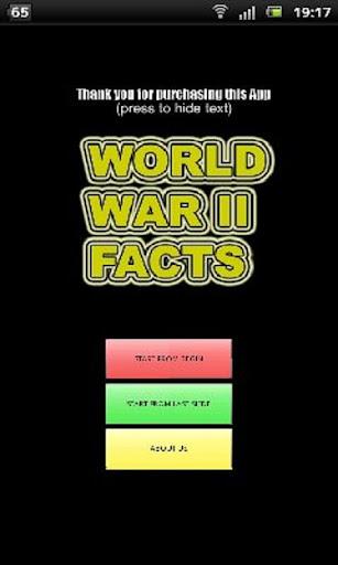 World War II facts