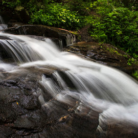 Deep Creek Falls by Dave Joye - Novices Only Landscapes ( waterfalls, great smoky mountains national park, deep creek, appalachians, smokey mountains, north carolina )