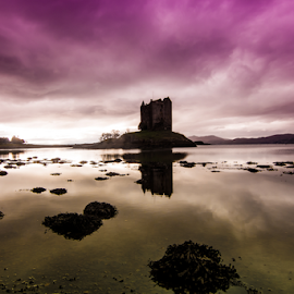 Castle Stalker by Gary Power - Landscapes Waterscapes ( scotland, castle stalker, sea, castle )
