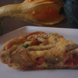 Potato,Eggplant,Tomato and Parsley Frittata