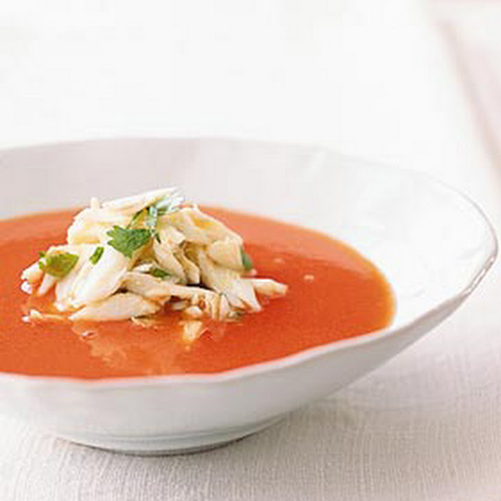 Thai-Spiced Watermelon Soup with Crabmeat