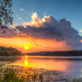 by Blaine Stauffer - Landscapes Sunsets & Sunrises ( clouds, waterscape, sunset,  )