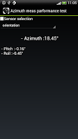 Screenshot of Azimuth meas performance test