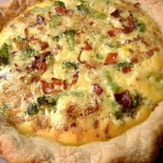 Zucchini, Bacon, and Gruyère Quiche