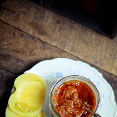Spicy Heirloom Tomato Relish