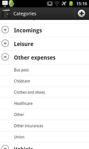 My Wallet+ - screenshot