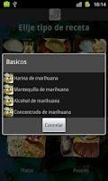 Screenshot of Recetas con Marihuana