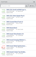 Screenshot of DeAWM Active: Funds App