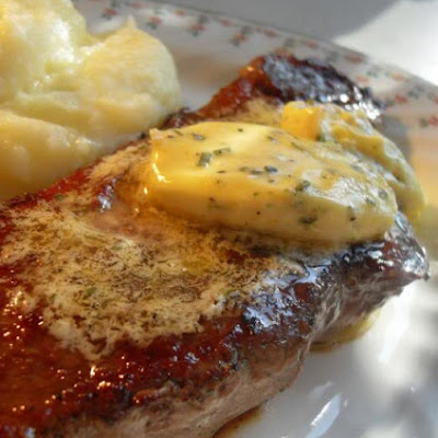 Pan Grilled Steaks with Bearnaise Butter