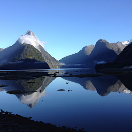 Mitre Peak in Milford Sound, New Zealand by Linda Reyer - Instagram & Mobile iPhone