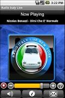 Screenshot of Radio Italy Live