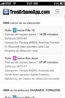 Screenshot of Tren Urbano App