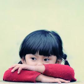 Aira by Fora Ginanjar Katamsi - Babies & Children Children Candids ( child, children, toddler, red dress, people, bang )