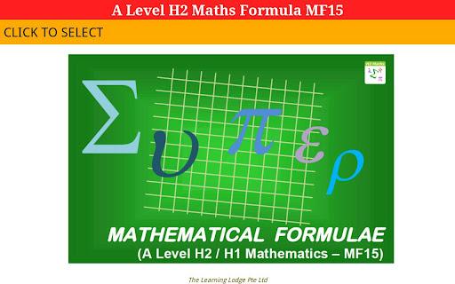 A Level H2 Maths MF15