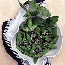 Sugar Snap Peas with Mint Dressing