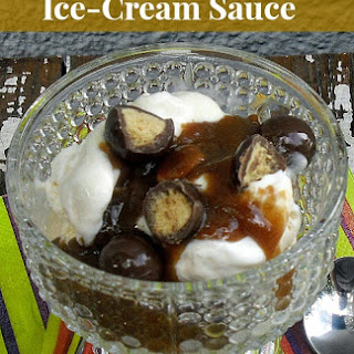 Peanut Butter Snickers Ice-Cream Sauce